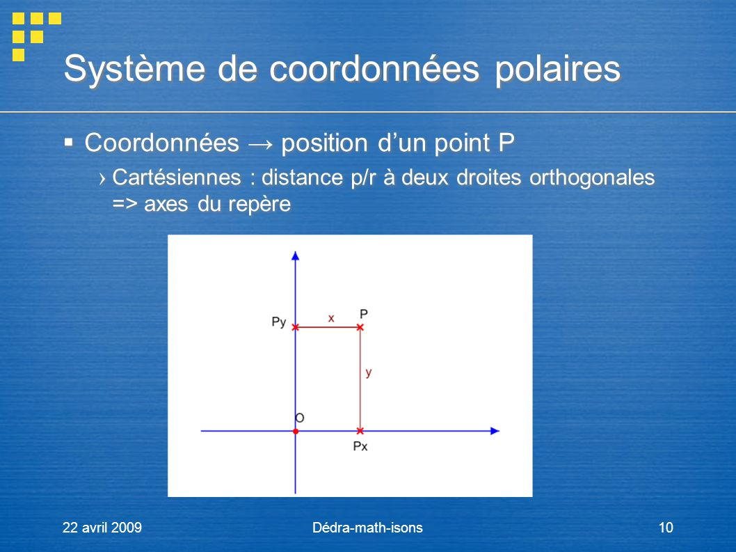 Système de coordonnées polaires