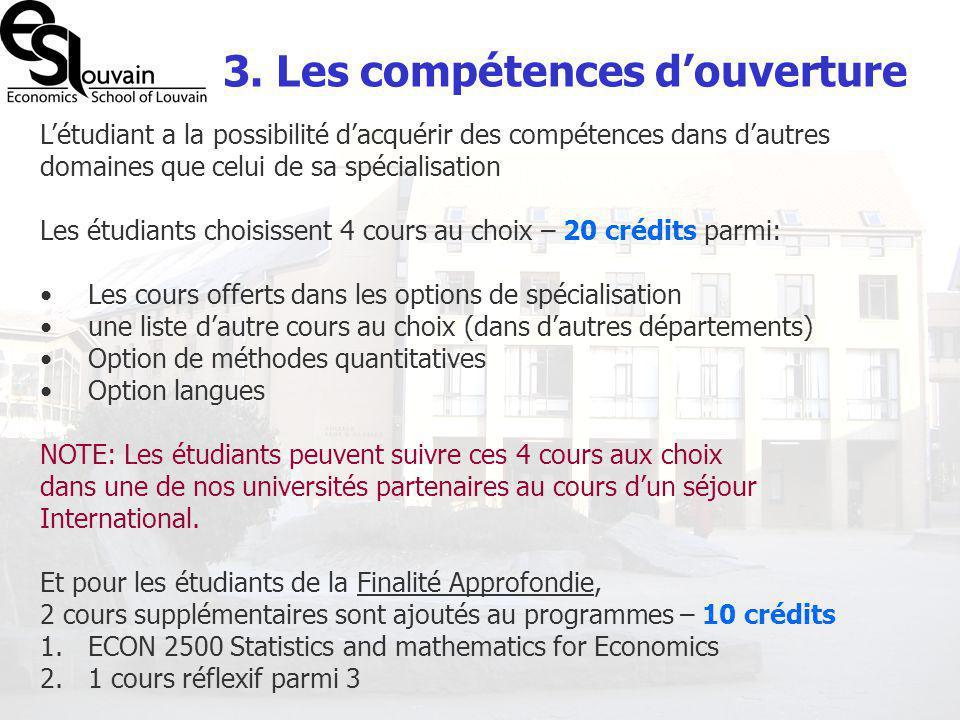 3. Les compétences d'ouverture