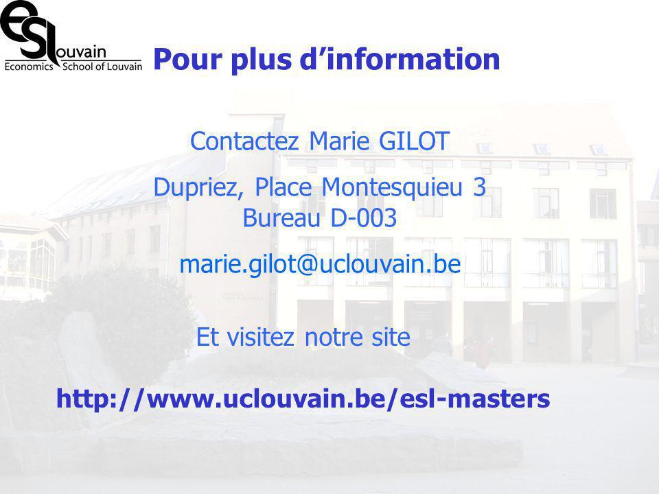Dupriez, Place Montesquieu 3 Bureau D-003