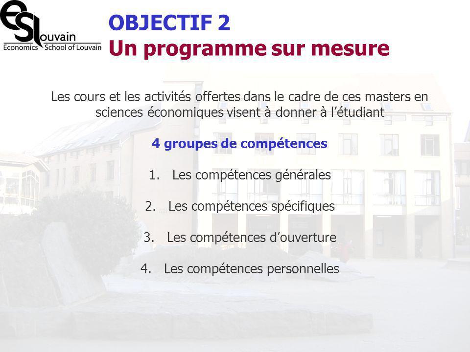 4 groupes de compétences