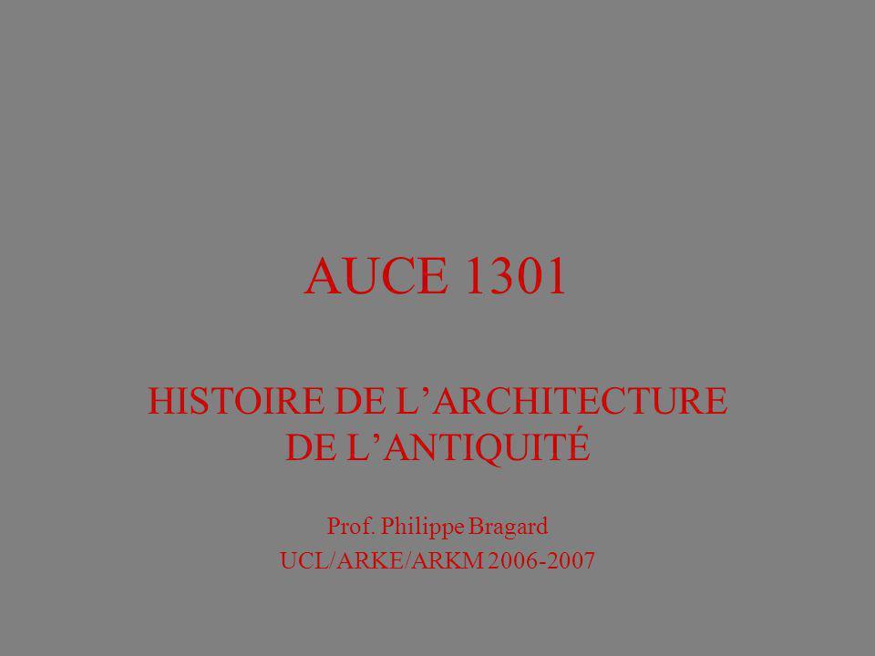 HISTOIRE DE L'ARCHITECTURE DE L'ANTIQUITÉ