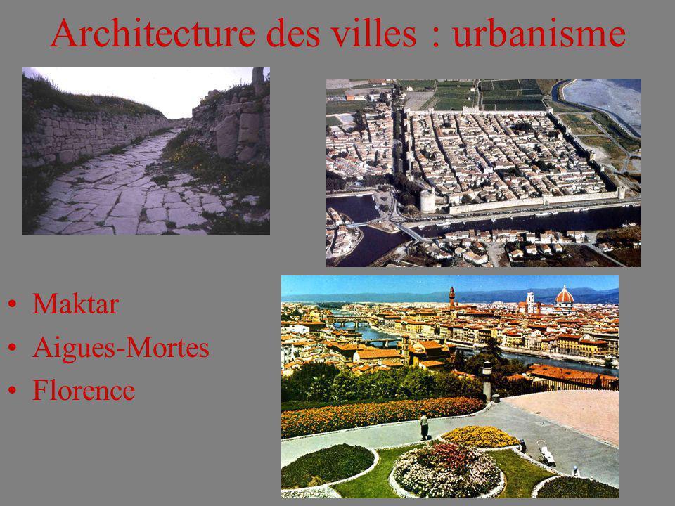 Architecture des villes : urbanisme
