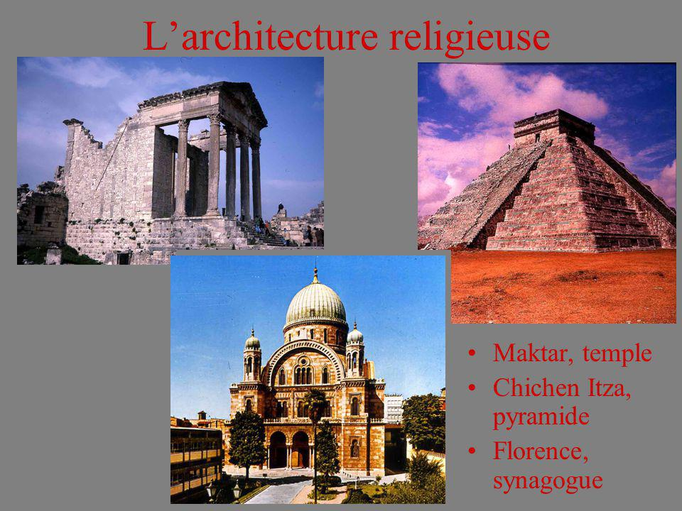L'architecture religieuse