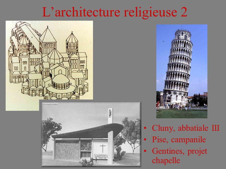 L'architecture religieuse 2
