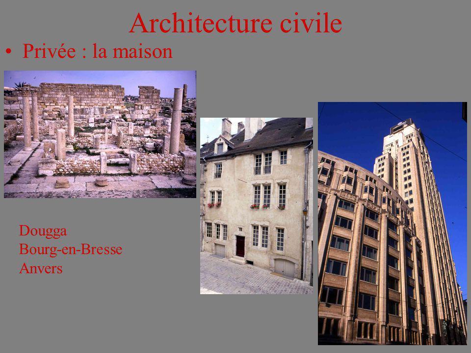 Architecture civile Privée : la maison Dougga Bourg-en-Bresse Anvers