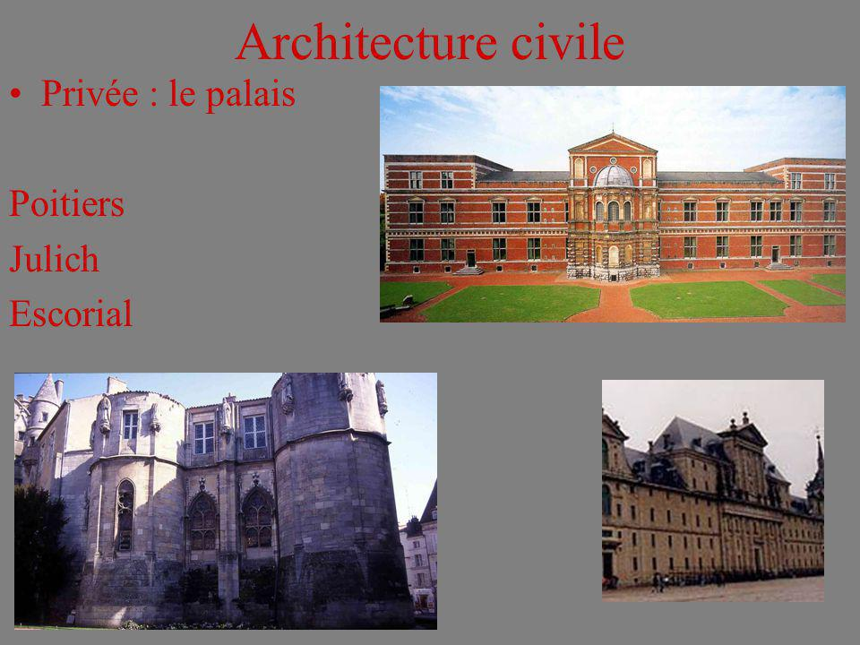 Architecture civile Privée : le palais Poitiers Julich Escorial