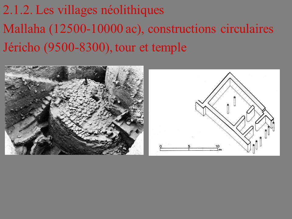 2.1.2. Les villages néolithiques