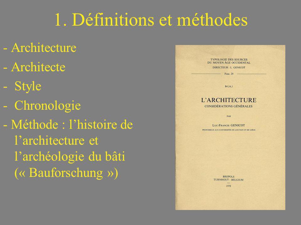 1. Définitions et méthodes