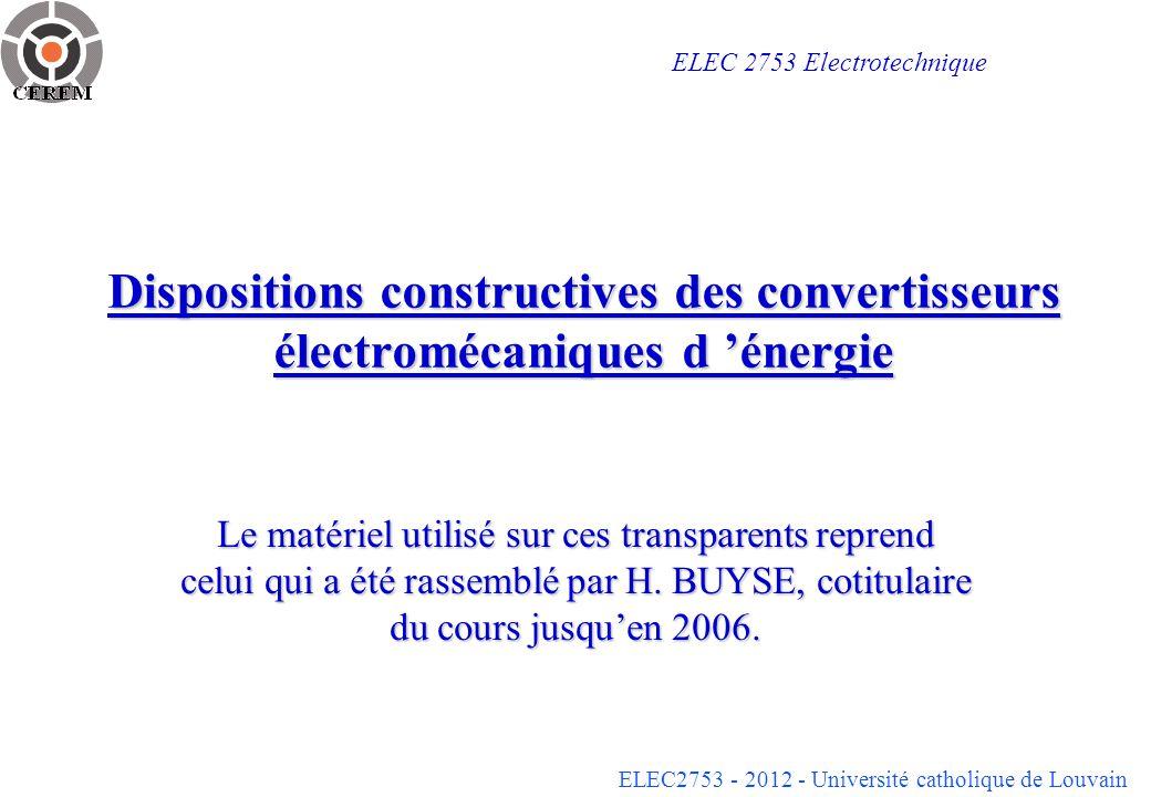 ELEC 2753 Electrotechnique