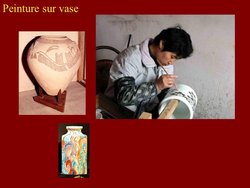 Peinture sur vase