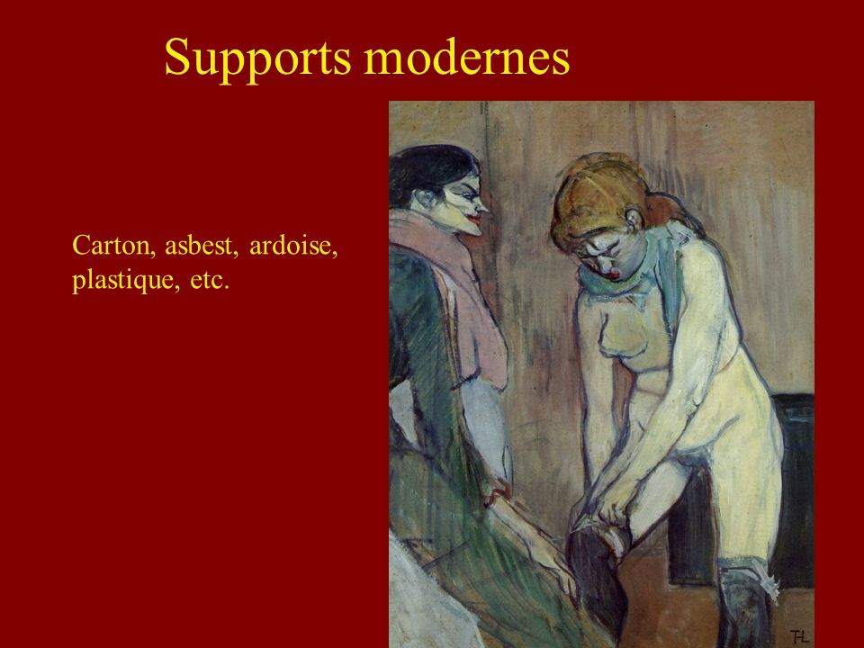 Supports modernes Carton, asbest, ardoise, plastique, etc.