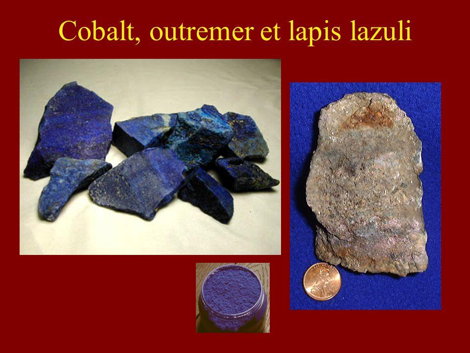 Cobalt, outremer et lapis lazuli