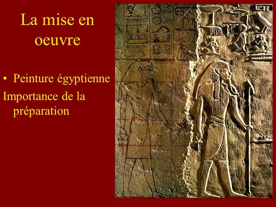 La mise en oeuvre Peinture égyptienne Importance de la préparation