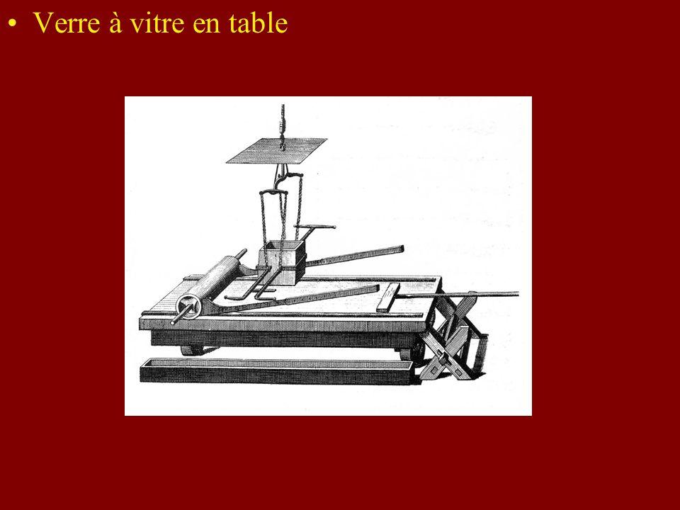 Verre à vitre en table