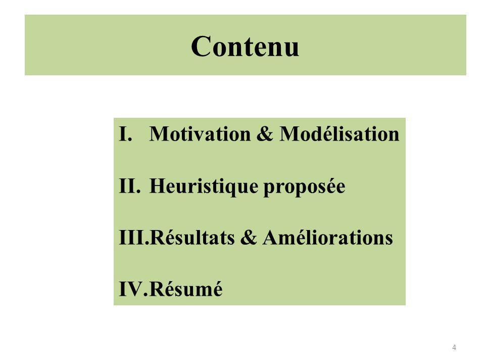 Contenu Motivation & Modélisation Heuristique proposée