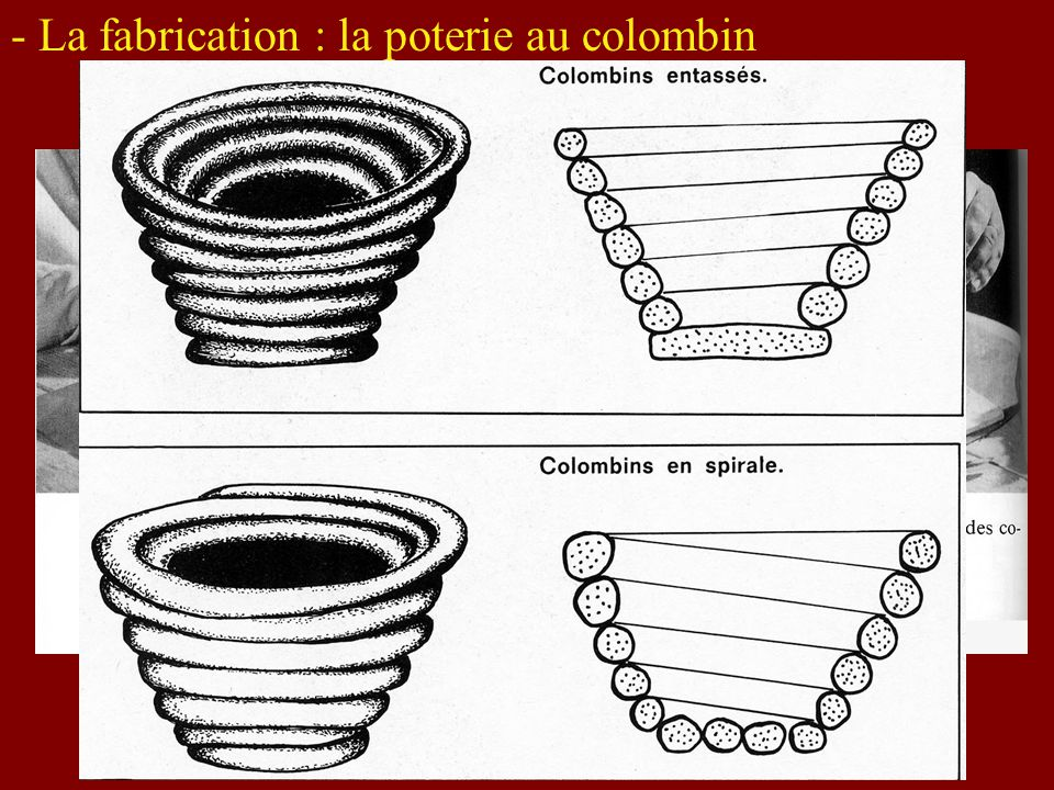 - La fabrication : la poterie au colombin