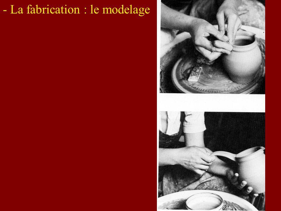 - La fabrication : le modelage