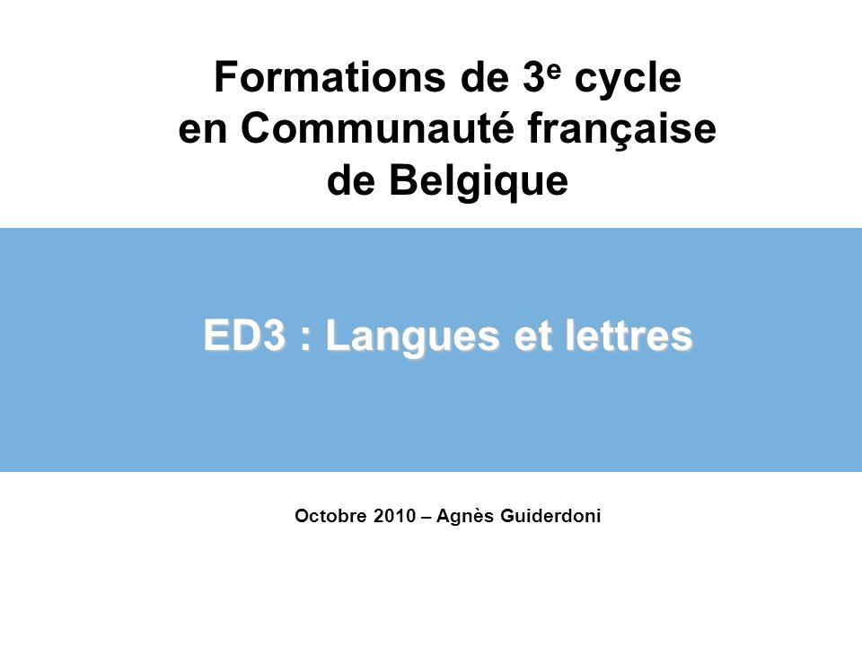 Formations de 3e cycle en Communauté française de Belgique