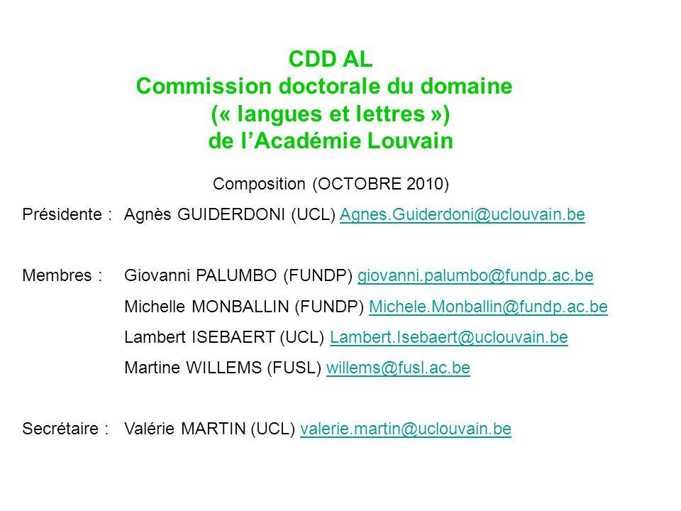 Commission doctorale du domaine (« langues et lettres »)
