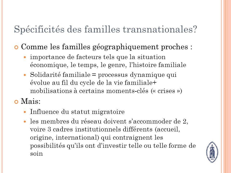 Spécificités des familles transnationales