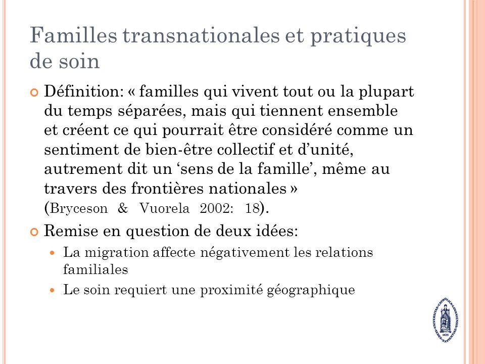 Familles transnationales et pratiques de soin