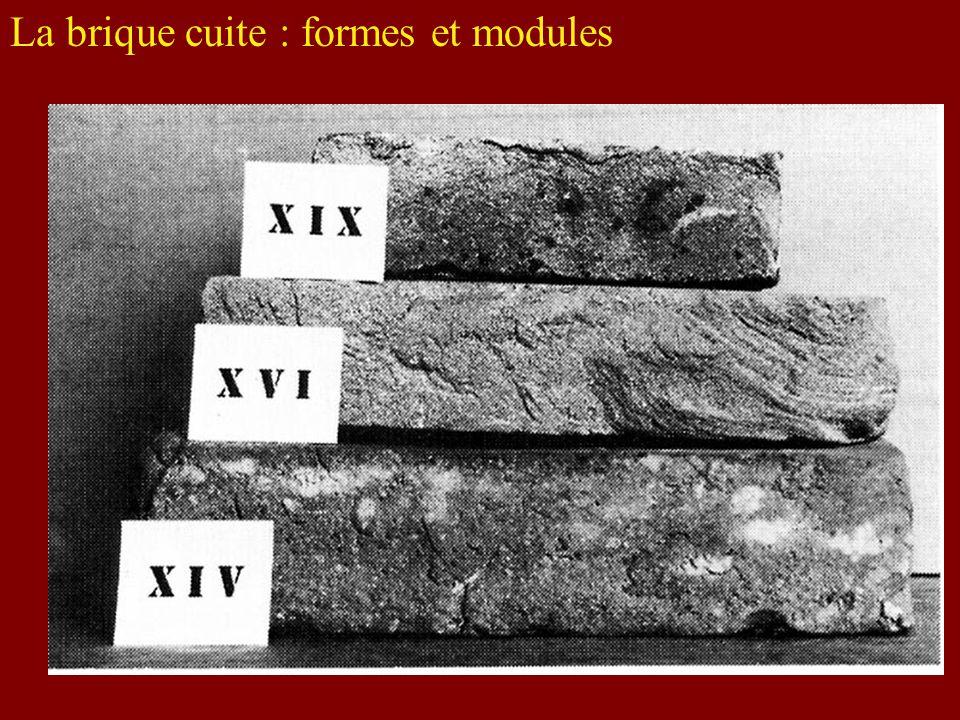 La brique cuite : formes et modules