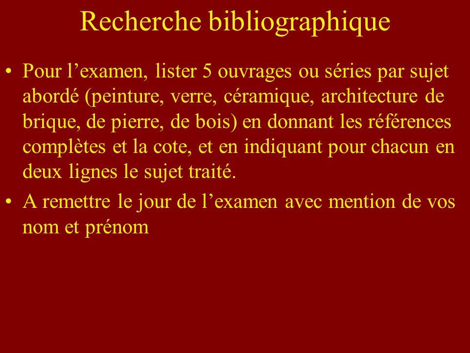 Recherche bibliographique