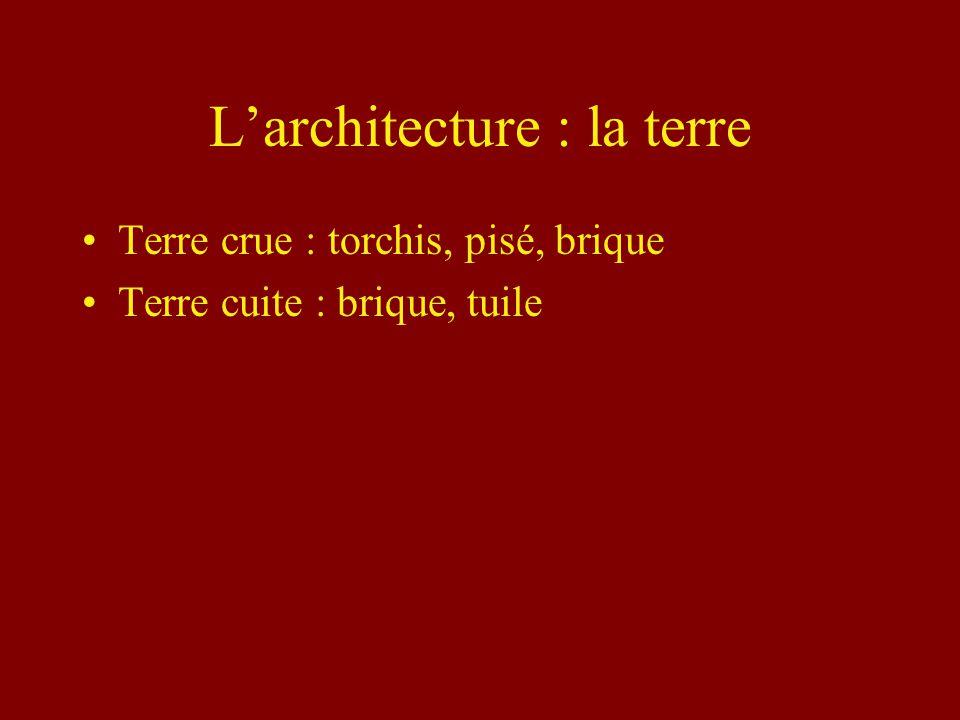 L'architecture : la terre