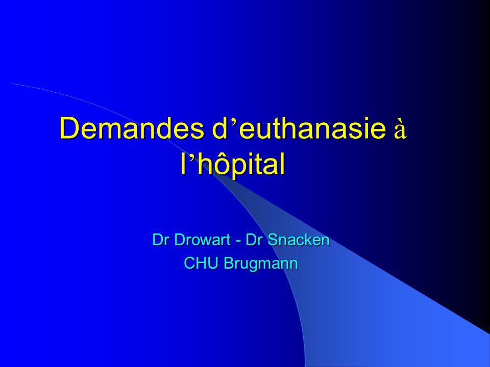 Demandes d'euthanasie à l'hôpital