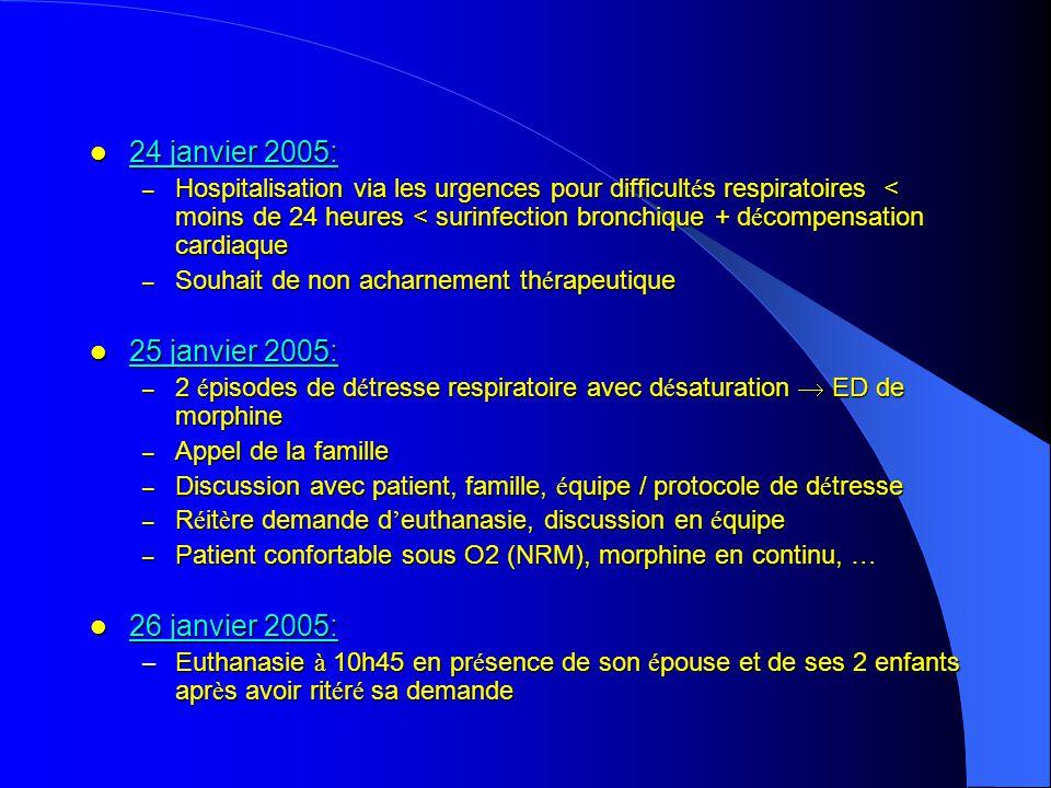 24 janvier 2005: 25 janvier 2005: 26 janvier 2005: 1er décembre 2004: