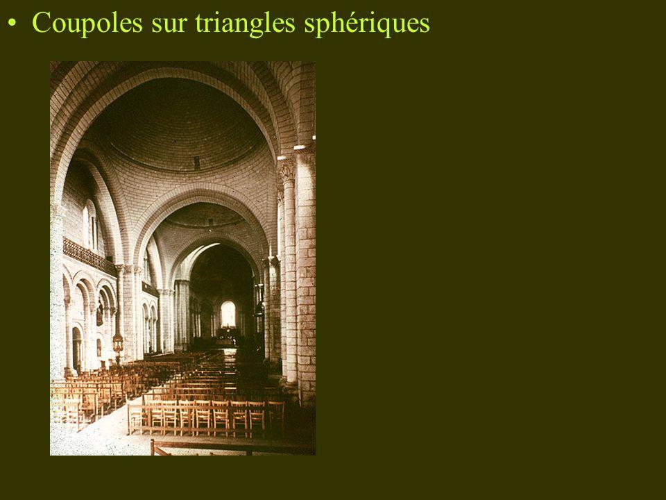 Coupoles sur triangles sphériques