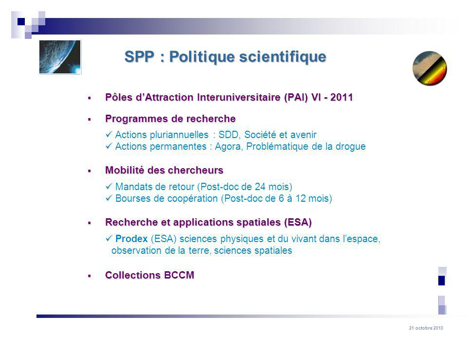 SPP : Politique scientifique