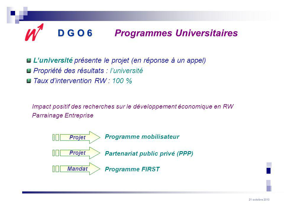 D G O 6 Programmes Universitaires