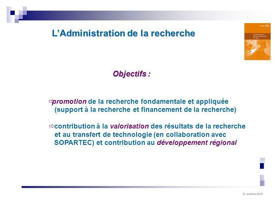 L'Administration de la recherche