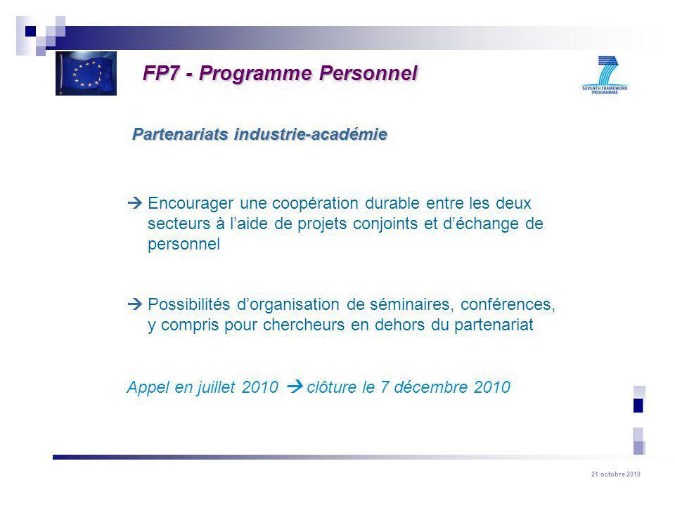 FP7 - Programme Personnel