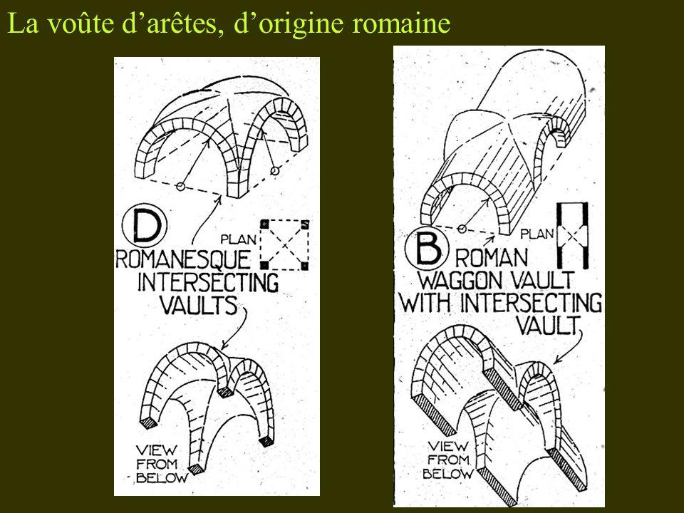 La voûte d'arêtes, d'origine romaine