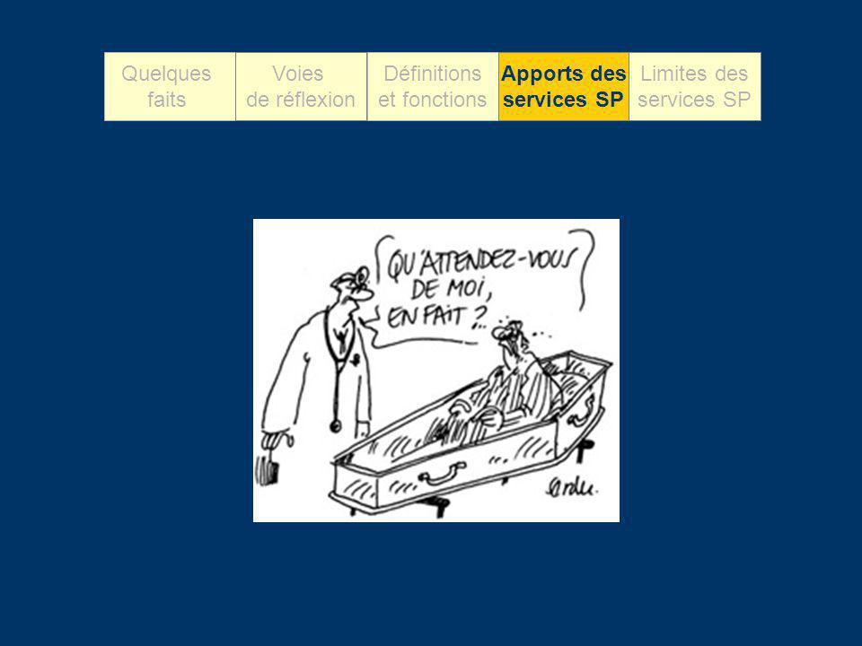 Apports des services SP