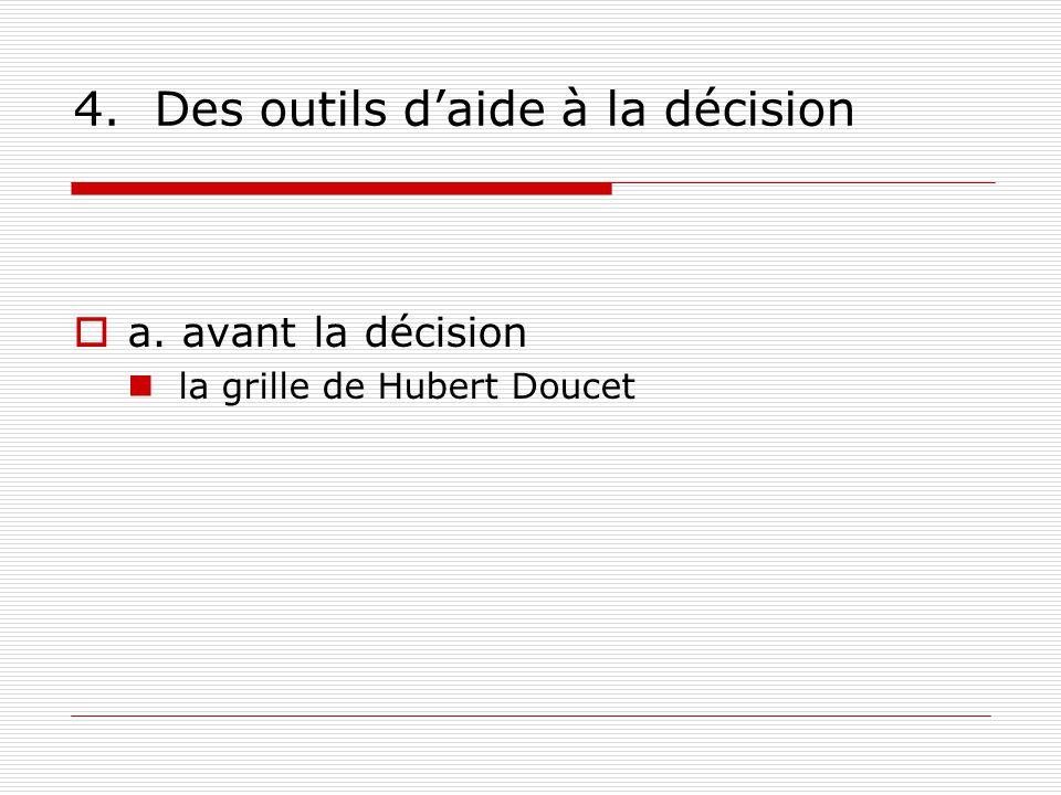 4. Des outils d'aide à la décision