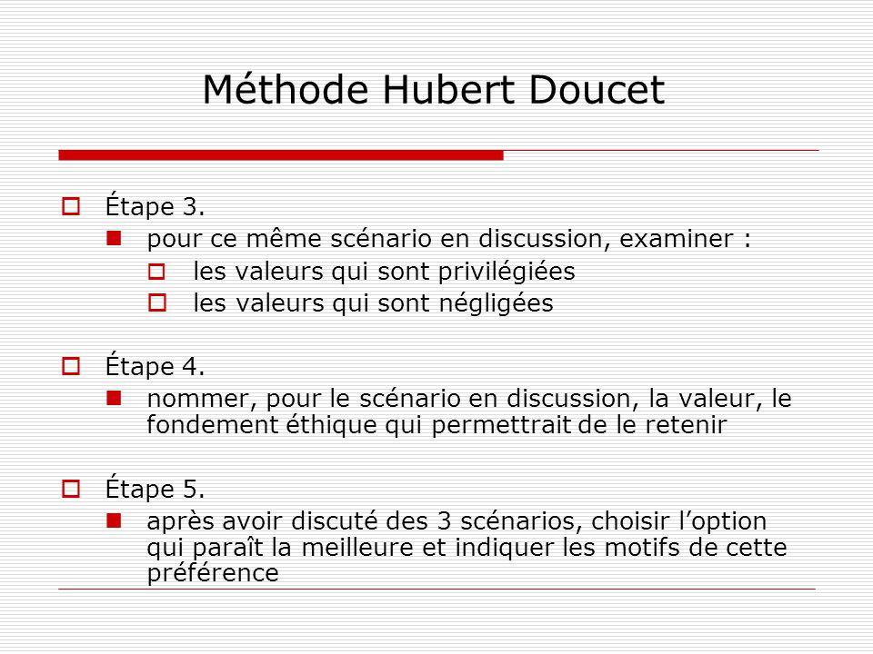 Méthode Hubert Doucet Étape 3.