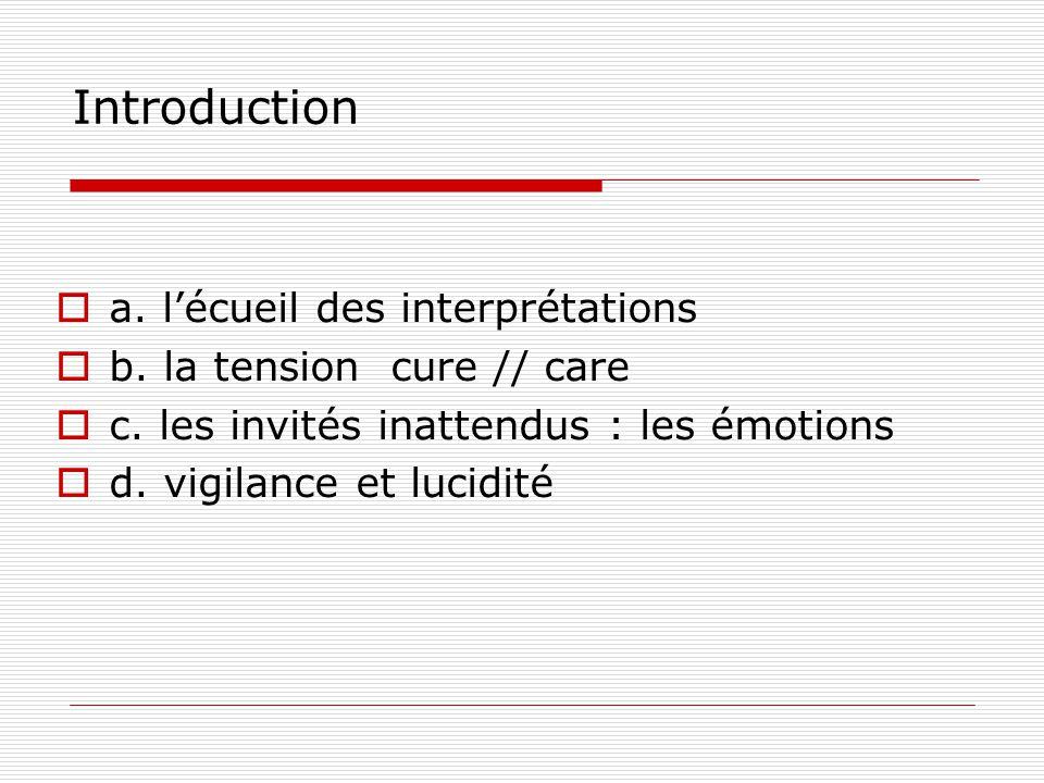 Introduction a. l'écueil des interprétations