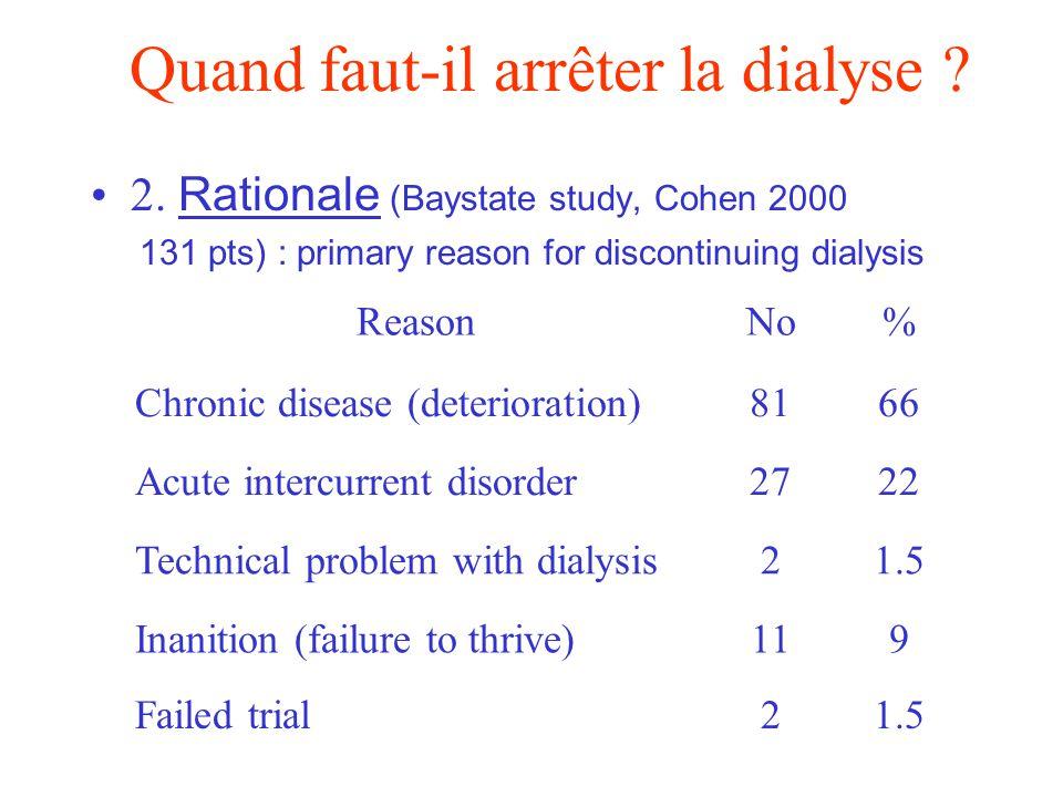 Quand faut-il arrêter la dialyse