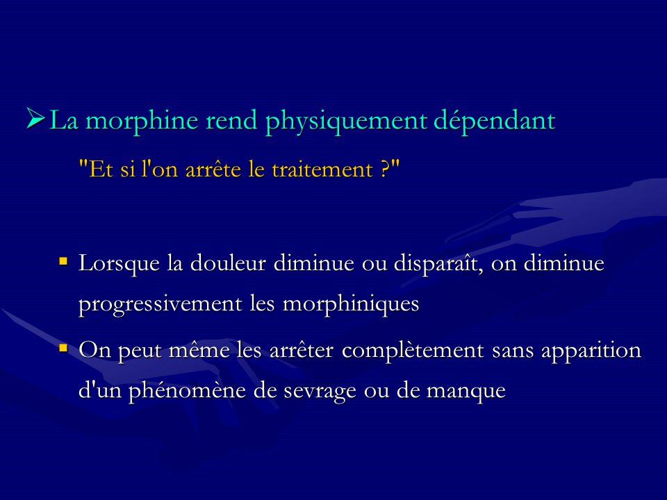 La morphine rend physiquement dépendant