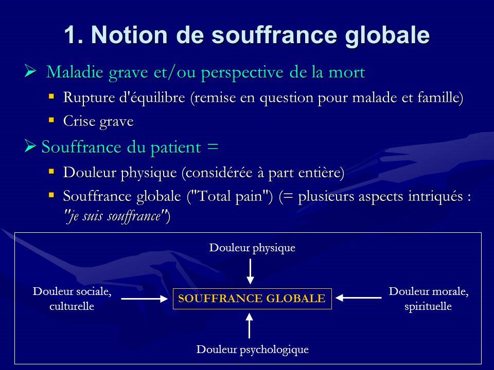 1. Notion de souffrance globale