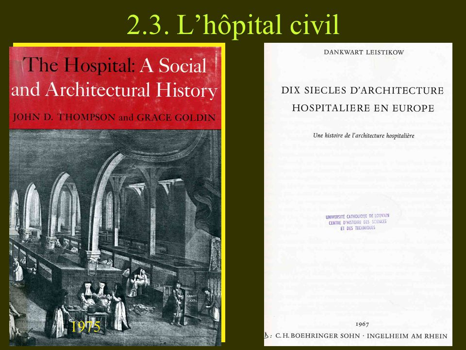 2.3. L'hôpital civil 1975