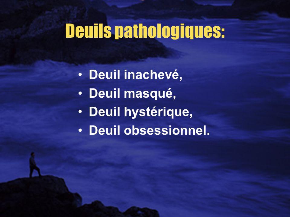 Deuils pathologiques: