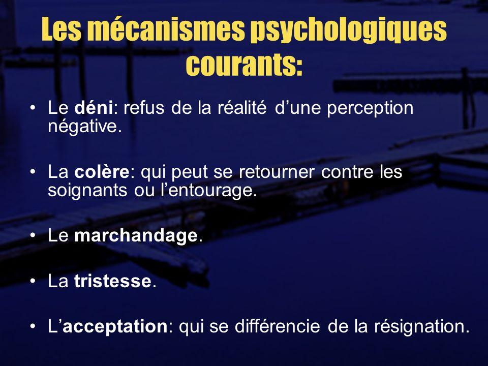 Les mécanismes psychologiques courants: