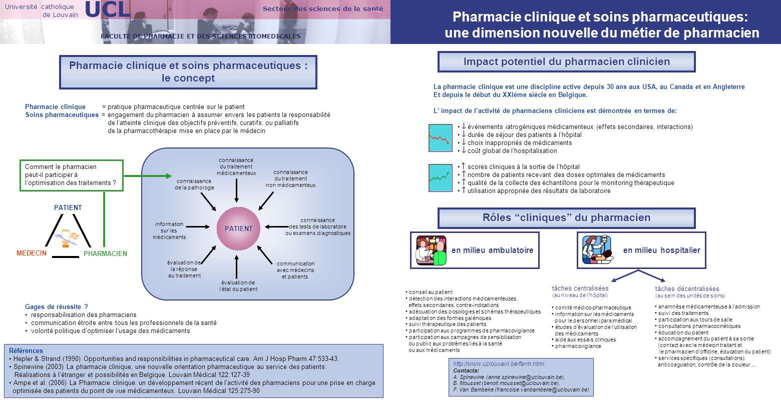 UCL Pharmacie clinique et soins pharmaceutiques:
