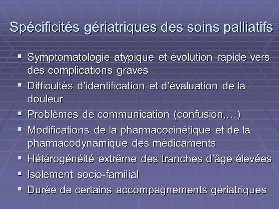 Spécificités gériatriques des soins palliatifs