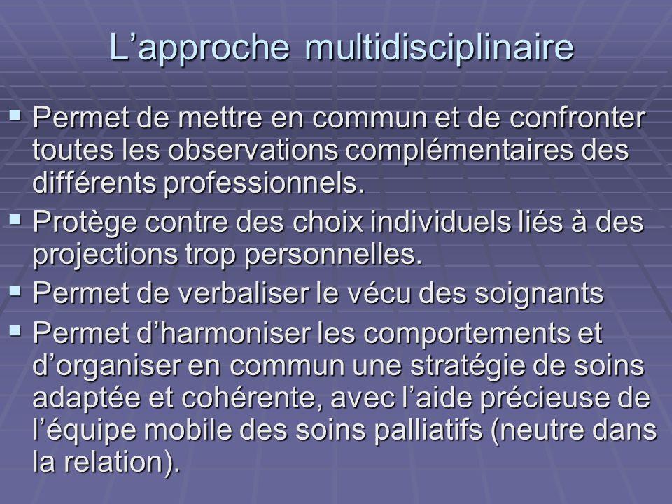 L'approche multidisciplinaire