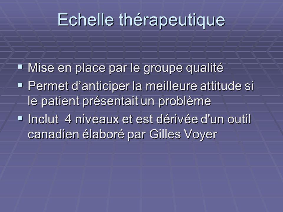 Echelle thérapeutique